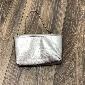 Silver Coin Purse With Chain Handle